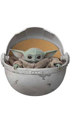 Bebé Yoda En Vaina El Niño La Estrella Mandaloriana Mini Recorte De Cartón 75Cm