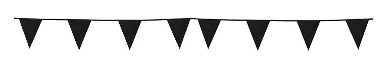 Banderín De Cartón Negro Brillo Bunting 6M