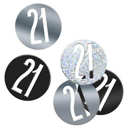 Brillo Negro Edad 21 Holográfica Surtido Mesa Confeti 14 Gramos