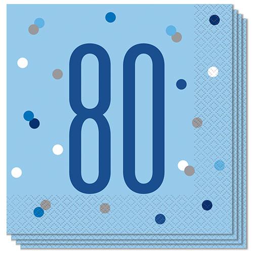 Servilletas De Almuerzo Edad De Brillo Azul 80 33Cm 2Ply - Paquete De 16