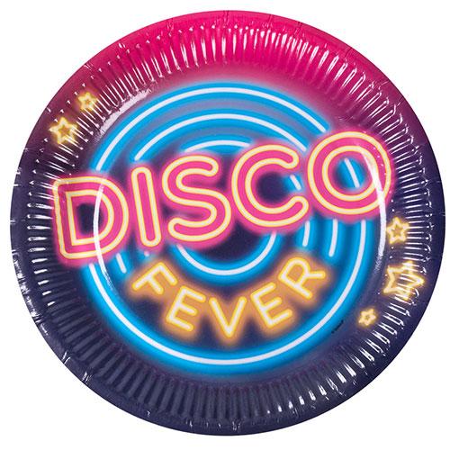 Discos De Papel Redondos Para La Fiebre Disco 23Cm - Paquete De 6