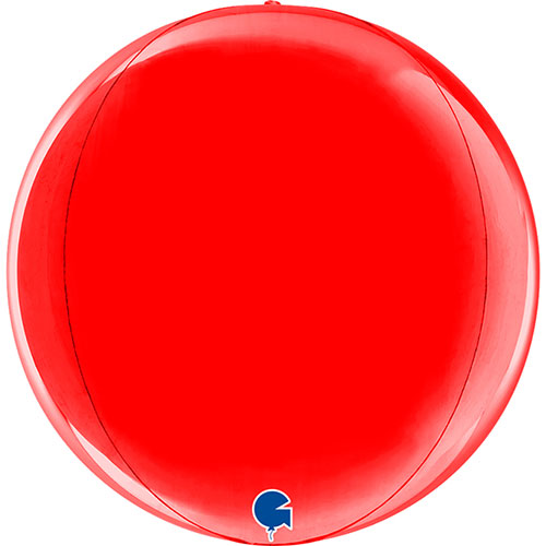 Globo De Helio De Aluminio Con Globo Rojo 4D 29Cm / 11 In