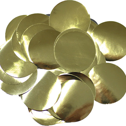 25 Mm De Oro Gigante De La Mesa Redonda Papel De 50 G De Confeti