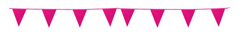 Banderín De Cartón Con Purpurina Rosa Fuerte Bunting 6M