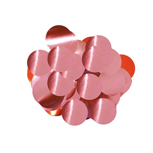 Rosa Claro 10Mm Redondo Papel De Aluminio Confeti Mesa 50G