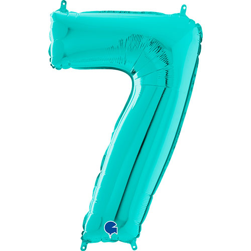 Tiffany Blue Number 7 Helio Lámina Gigante Globo 66Cm / 26 In