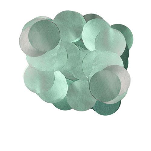 Perla Azul Celeste 10Mm Papel De Aluminio Redondo Confeti 50G