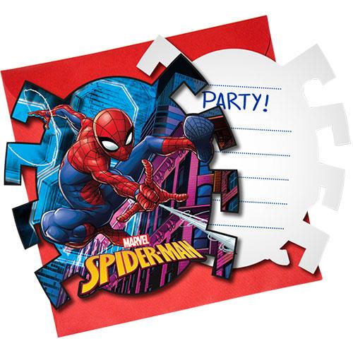 Equipo De Spider-Man Invitaciones Con Sobres - Paquete De 6