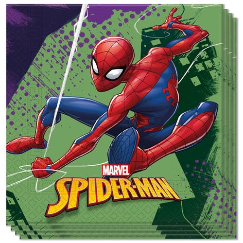Spider-Man En Equipo Servilletas Almuerzo 33Cm 2Ply - Paquete De 20