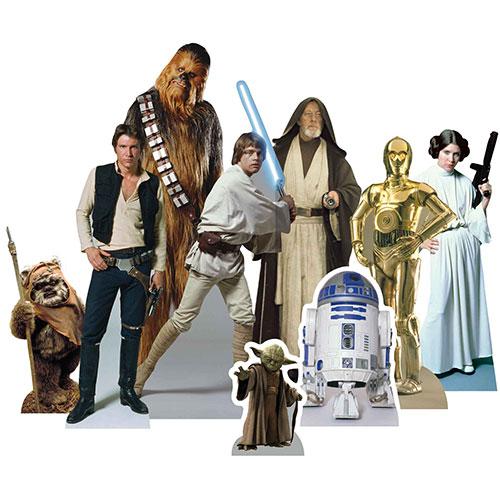 Decoraciones De Corte De Mesa De Héroes De Star Wars - Paquete De 9