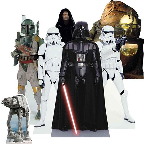 Decoraciones De Recortes De Mesa De Villanos De Star Wars - Paquete De 7