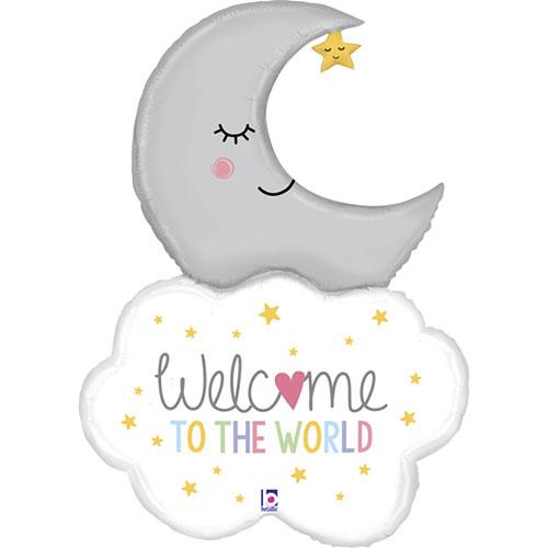 Bienvenido Baby Moon Helio Lámina Gigante Globo 107Cm / 42 In