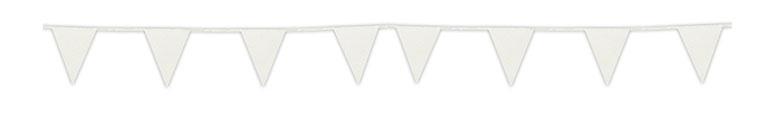 Banderín De Cartón Brillo Blanco Empavesado 6M