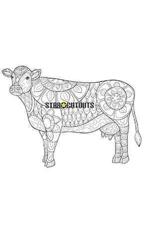 Diseño De Vaca Color Craft Star Mini Recorte De Cartón 69Cm