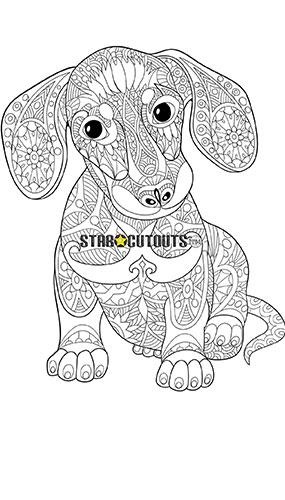 Diseño Lindo Cachorro Color Artesanía Estrella Mini Recorte De Cartón 92Cm
