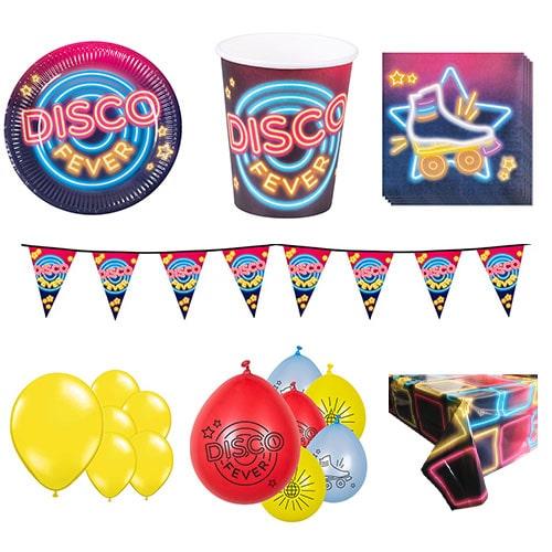 Paquete De Fiesta De Lujo Disco Para 12 Personas