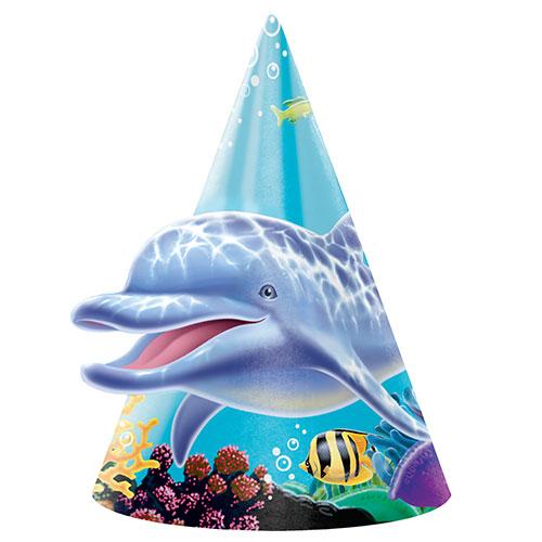Sombreros De Cono De Fiesta Del Océano - Paquete De 8