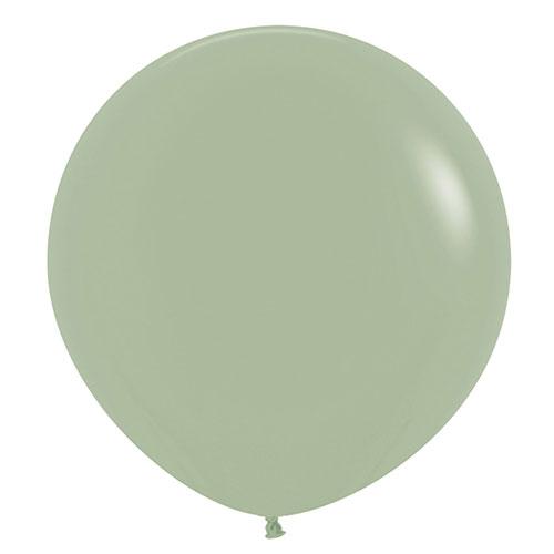 Moda Eucalipto Jumbo Verde Globos De Látex Biodegradables 61 Cm / 24 En - Paquete De 3