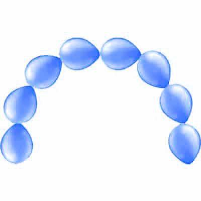 Globos De Látex Azul De Enlace Metálicos 30Cm / 12 En - Paquete De 15