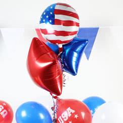 Globos y accesorios de la fiesta de los EE. UU.