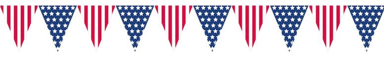 Bandera EE.UU. Banderín De Plástico Bunting 3.65M