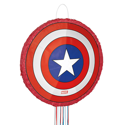 Vengadores Capitán América Escudo 3D Cuerda De Tracción Piñata