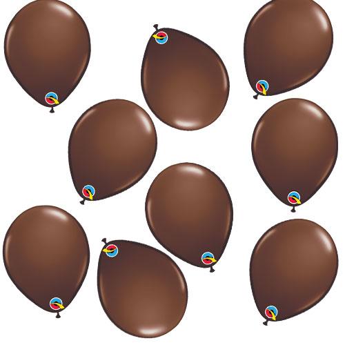 Globos Qualatex Redondos Mini Látex Marrón Chocolate 13Cm / 5 In - Paquete De 100