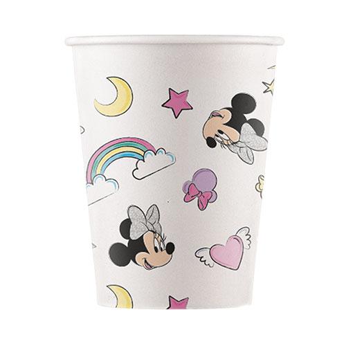 Tazas De Papel Compostables De Disney Minnie Mouse Unicorn Dreams 200Ml - Paquete De 8