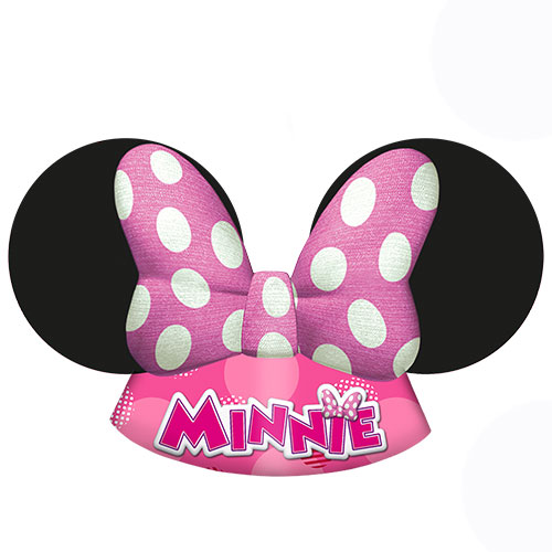 Disney Minnie Mouse Party Troquelados Sombreros - Paquete De 6