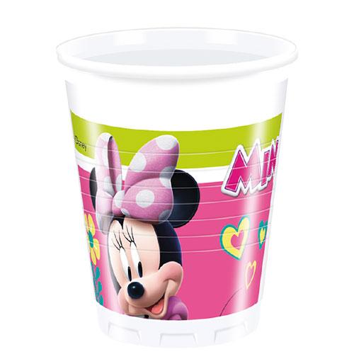 Disney Minnie Mouse Vasos De Plástico 200Ml - Paquete De 8