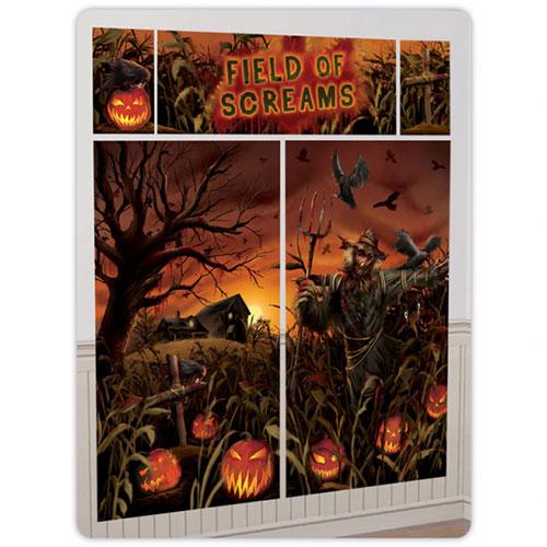 Campo De Gritos Halloween Telón De Fondo Escena Setter Complemento Kit De Decoración De Pared