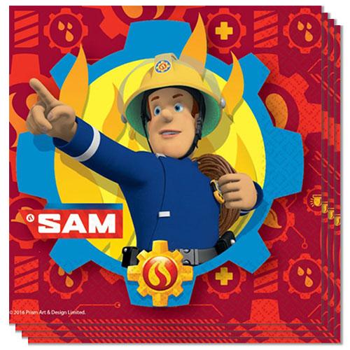 Bombero Sam Servilletas De Almuerzo 33Cm 2Ply - Paquete De 20