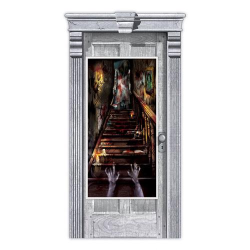 Decoración De La Cubierta De La Puerta De La Escalera De La Casa Encantada De Halloween 165Cm