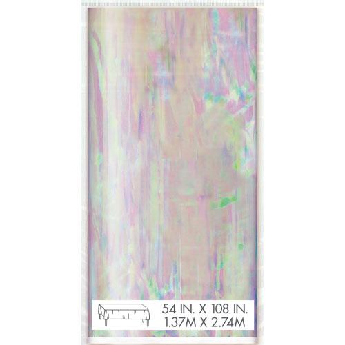 Mantel De Plástico Iridiscente 213Cm X 127Cm
