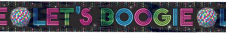 Let's Boogie Disco Pancarta De Foil 7.6M