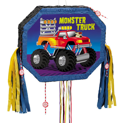 Piñata De Cadena De Tracción De Camión Monstruo
