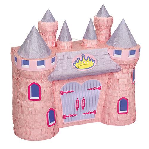 Piñata Estándar Princesa 3D Castillo Rosa