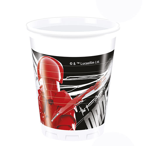 Star Wars El Último Jedi Vasos De Plástico 200Ml - Paquete De 8