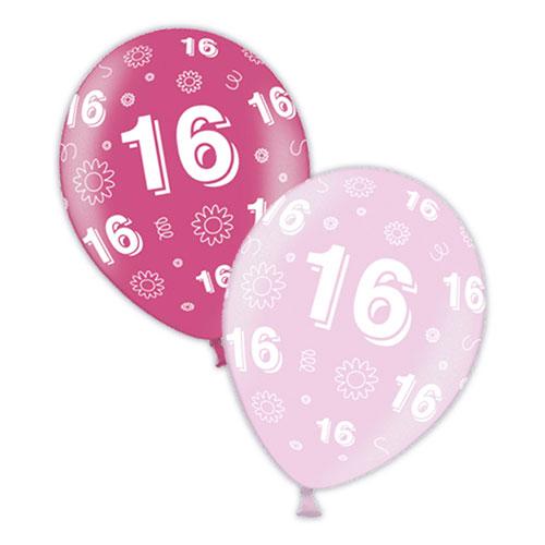 Globos De Látex Rosa Para Cumpleaños Número 16, 28 Cm, Paquete De 25