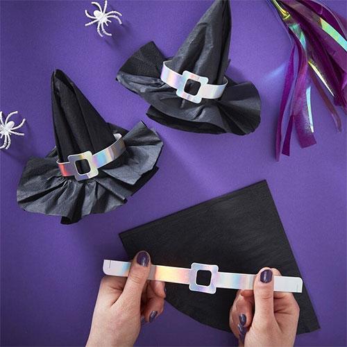 Servilletas De Halloween Con Sombrero De Bruja 3D - Paquete De 12