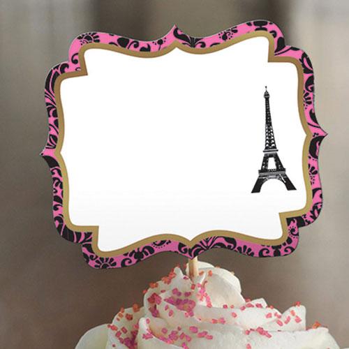 Selecciones De Etiquetas De Alimentos Personalizables A Day In Paris - Paquete De 24