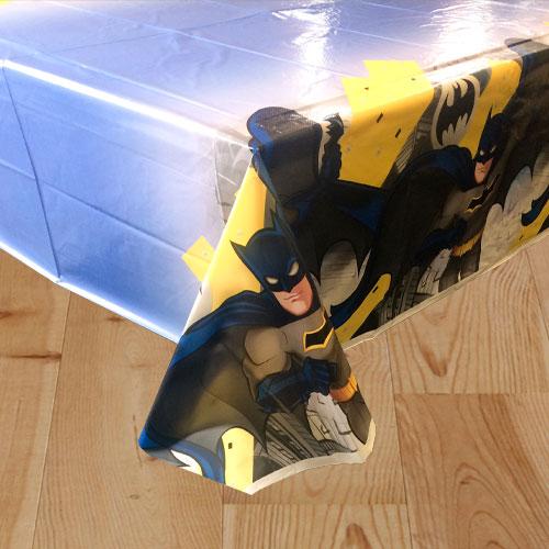 Mantel De Plástico Batman Tema 213Cm X 137Cm