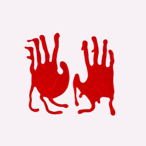 Adhesivos De Gel De Halloween Manos Sangrientas Decoraciones De Ventana