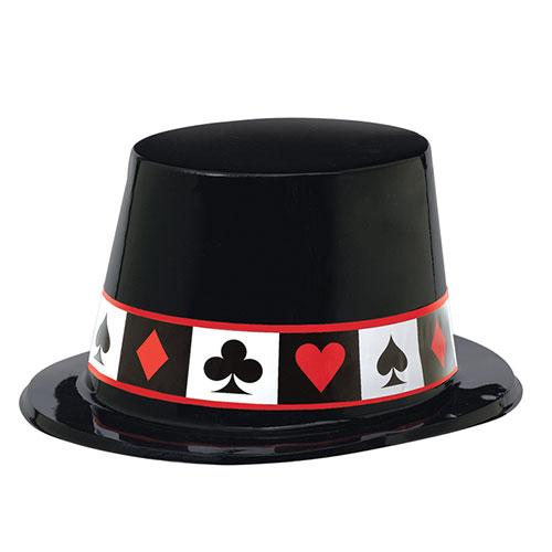 Vestido De Lujo Del Sombrero De Copa Plástico Del Casino