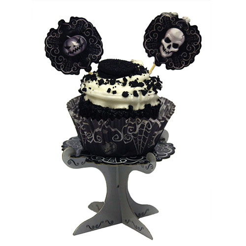 Mini Soportes Para Cupcakes Halloween Fright Night - Paquete De 4