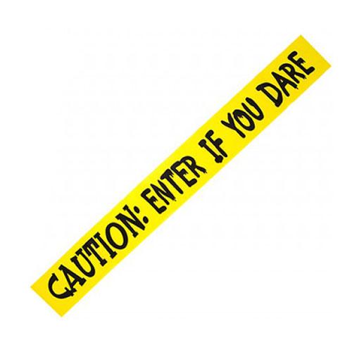 Cintas De Terror Amarillas Impresas De Halloween 3M - Paquete De 3