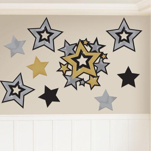 Recortes Decorativos De Estrellas De Hollywood, Paquete De 30
