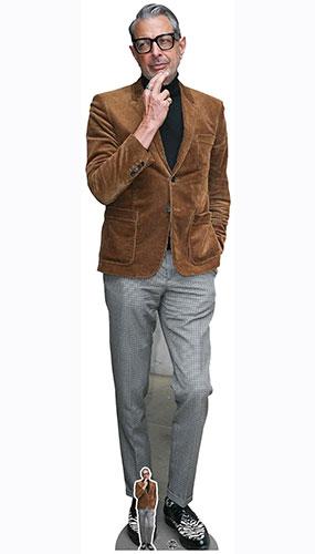 Jeff Goldblum Chaqueta Marrón Corte De Cartón De Tamaño Natural 194Cm