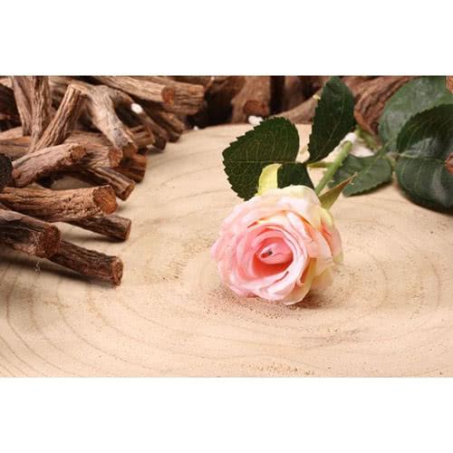 Rosa Claro Diamante Rosa Flor De Seda Artificial 40Cm