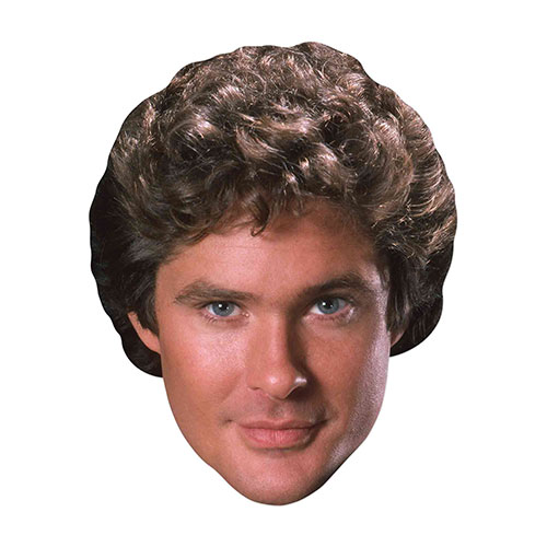 Michael Knight Rider David Hasselhoff Mascarilla De Cartón